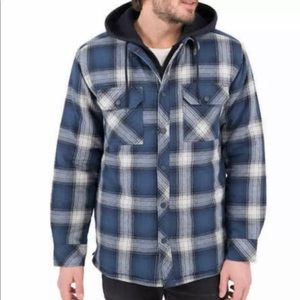 Boston Traders Men's Flannel Shirt Jacket hoodie